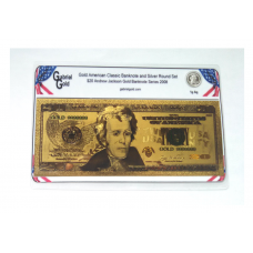 American Classic Gold $20 Banknote and Silver Round Set