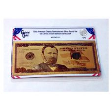 American Classic Gold $50 Banknote and Silver Round Set