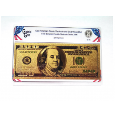 American Classic Gold $100 Banknote and Silver Round Set
