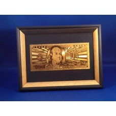 24k Gold $100 American Bank Note in Frame