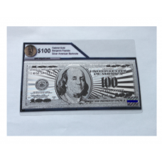 Silver Pressed $100 American Bank Note