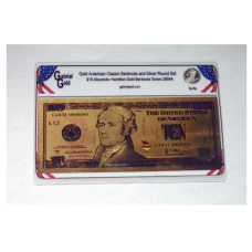 American Classic Gold $10 Banknote and Silver Round Set