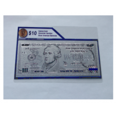 Silver Pressed $10 American Bank Note