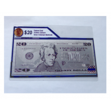 Silver Pressed $20 American Bank Note