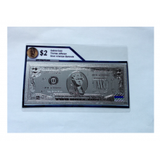 Silver Pressed $2 American Bank Note
