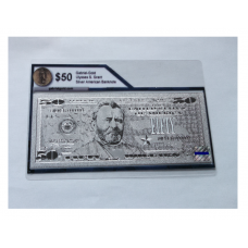 Silver Pressed $50 American Bank Note