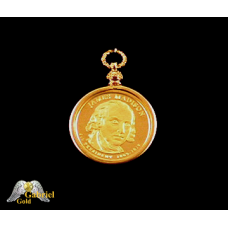 James Madison Reverse Proof Presidential Dollar Pendent