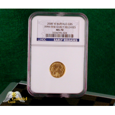 2008 W $5 Gold Buffalo NGC MS-70 ER