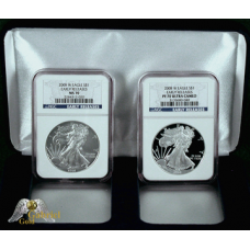 2008 American Silver Eagle Two Coin Set