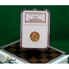 2008 W $5 Gold Bald Eagle Coin NGC MS-70