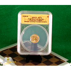 2008 W $5 Gold Buffalo ANACS SP-70 FDI