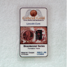 2009 D Lincoln Inaugural (Formative) Cent MS