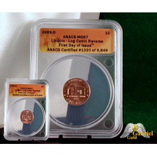 2009 P+D Lincoln Inaugural  (Log Cabin) Cent Set MS-67 RD