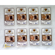 2009 P+D Lincoln 8 Coin Bicentennial Cent Set