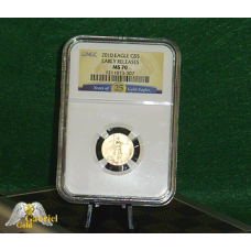 2010 $5 25th Anniversary Gold Eagle MS-70 ER