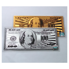 $100 24k Gold and Silver Banknote Set