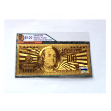 24k Gold $100 American Bank Note