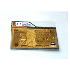 24k Gold $10 American Bank Note