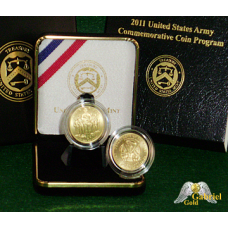 2011 $5 Gold Army Commemorative Coin