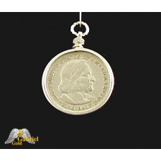 1892 Columbus Commemorative Silver Dollar Pendent