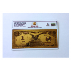 1899 Gold $1 Silver Cert Banknote