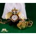 18Kt Gold Plated Owl Watch