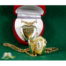 18Kt Gold Plated Heart Watch