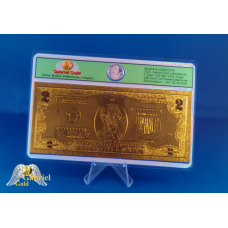 24k Gold $2 American Bank Note