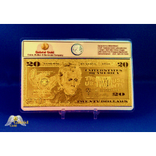 24k Gold $20 American Bank Note