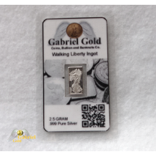 2.5 Gram Walking Liberty Silver Ingot