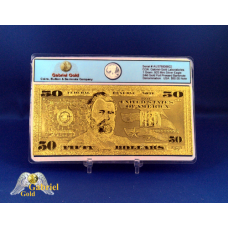 24k Gold $50 American Bank Note
