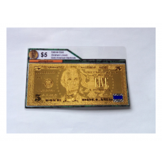 24k Gold $5 American Bank Note
