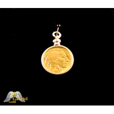 Random Date 24k Gold Plated Buffalo Nickel Pendent
