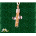 24K Gold Flake Glass Cross Pendent