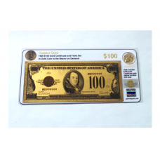 1928 $100 Gold Certificate and Flake Set