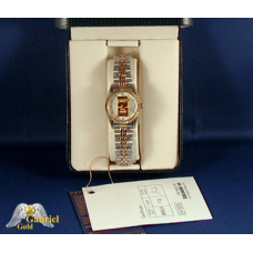 Lady's 24K Gold Ingot Wrist Watch