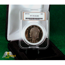 1973 S Eisenhower Proof Dollar CSI PF-70