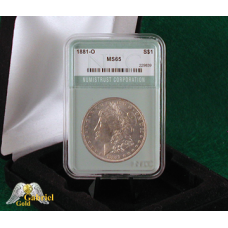1881 O Morgan Silver Dollar NTC MS-65