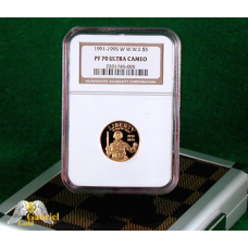 1991-1995 WWII $5 Commemorative Gold Proof PF-70