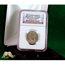 2007 P J. Adams Db Edged Let Error - Inverted MS-64