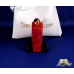 Classic 14k Gold Red Jade Dragon Pendent