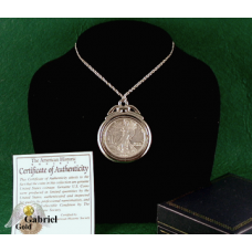 Random Date Walking Liberty Silver Dollar Pendent