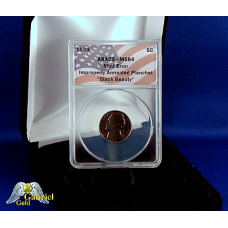 1959 T. Jefferson Black Beauty Planchet Error MS-64