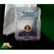 2006 W $5 Gold Eagle Proof ICG Numbered, FDI, PF-70