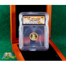2007 W $5 Gold Eagle Proof ICG FDI MS-70