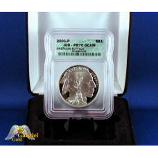 2001 P $1 Silver Buffalo Proof  ICG PF-70
