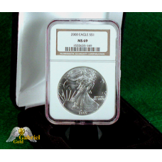 2000 P $1 Silver Eagle NGC MS-69