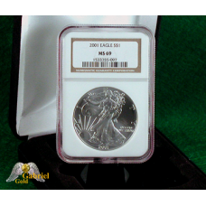 2001 P $1 Silver Eagle NGC MS-69