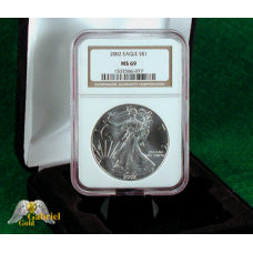 2002 P $1 Silver Eagle NGC MS-69