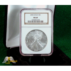 2004 P $1 Silver Eagle NGC MS-69